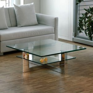 mobili domani  cannes glass coffee table