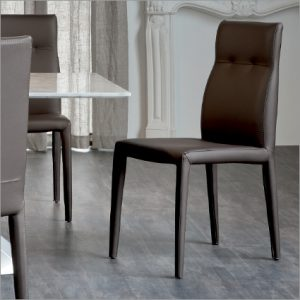Cattelan Italia Agatha Flex Leather Dining Chair, by Pao Cattela