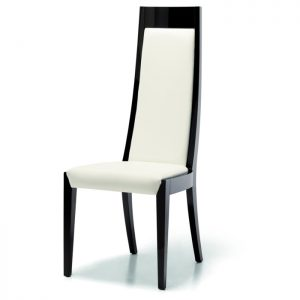 Sorrento Dining Chair, Leather or Faux Leather, by Mobili Domani