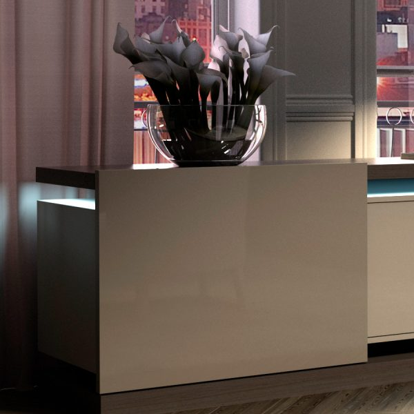 Sorrento Sideboard In Oak And Lacquered, by Mobili Domani