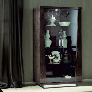 Eva Glass Vitrine in High Gloss, by Mobili Domani