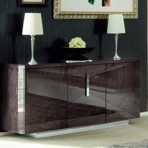 Eva 3 Door Buffet in High Gloss, by Mobili Domani