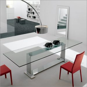 Cattelan Italia Monaco Glass Table, by Giorgio Cattelan