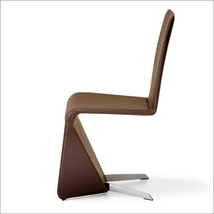 Cattelan Italia Patricia Leather Dining Chair, by Emilio Nanni