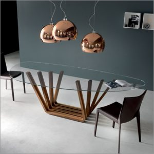 Cattelan Italia Domino Glass Table, by Andrea Lucatello