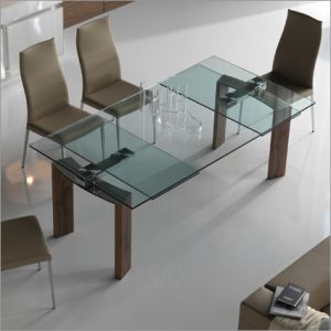 Cattelan Italia Daytona Glass Extending Table, by Studio Kronos