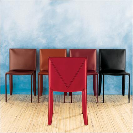 Cattelan Italia Piuma Leather Dining Chair By Studio Kronos
