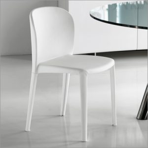 Cattelan Italia Daisy Leather Dining Chair, by Pocci & Dondoli