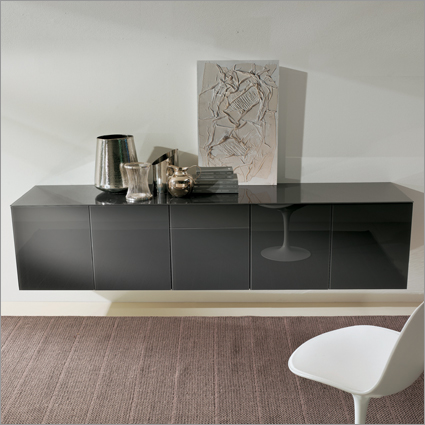 Bontempi Casa Aly Glass Sideboard