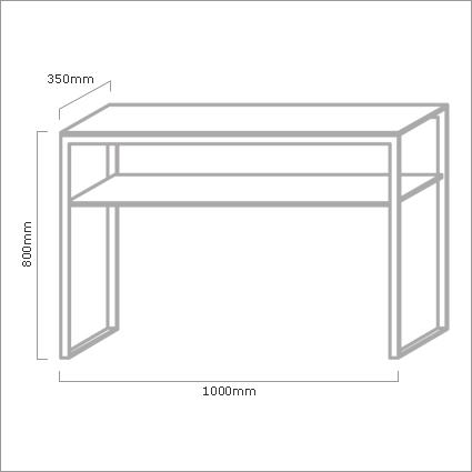 Bontempi Casa Hip Hop Glass Console Table