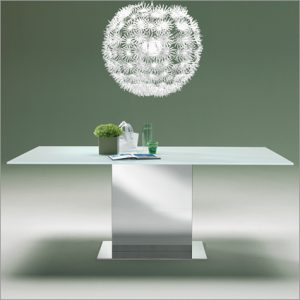 Bontempi Casa Oasi Glass Fixed Top Table