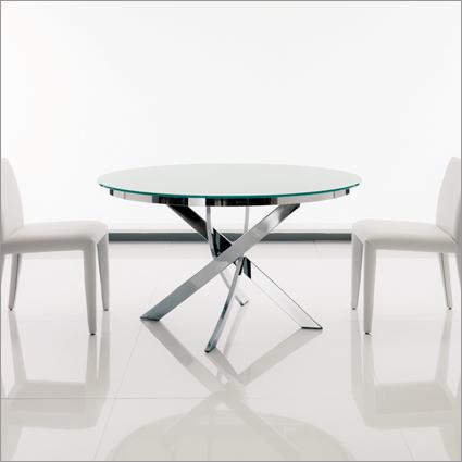 Bontempi Casa Barone Round Glass Table