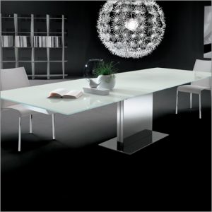 Bontempi Casa Oasi Glass Extending Table