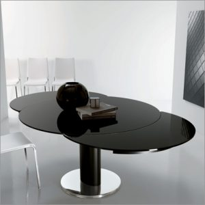 Bontempi Casa Giro Glass Extending Table