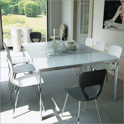 Bontempi Casa Etico Extending Glass Console Table