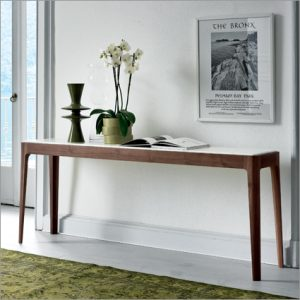 Porada Ziggy Walnut Console Table, by C. Ballabio