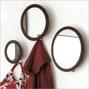Porada Stars Mirror with Coat Hook, by T. Colzani