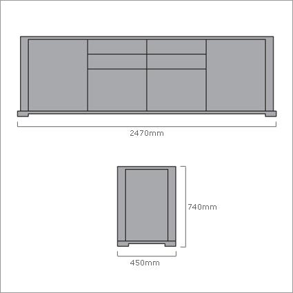 Porada Bryant Sideboard, by Opera Design