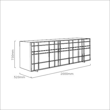 Porada Kilt Sideboard, by M. Marconato & T. Zappa