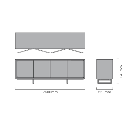 Porada Hamilton Sideboard, by Marelli & Molteni