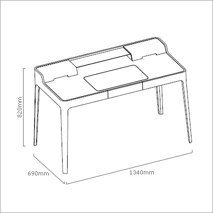Porada Saffo Office Desk, by C. Ballabio