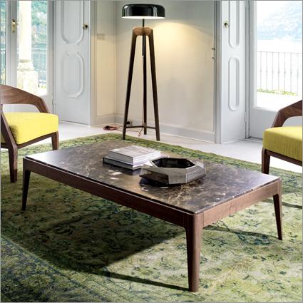 Porada Ziggy Walnut Coffee Table, by C. Ballabio