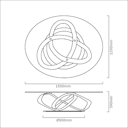 Porada Infinity Glass Coffee Table, by S. Bigi