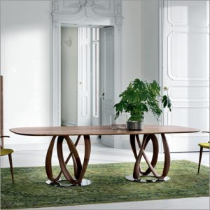 Porada Infinity Wood Top Dining Table, by S. Bigi