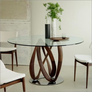 Porada Infinity Glass Dining Table, by S. Bigi