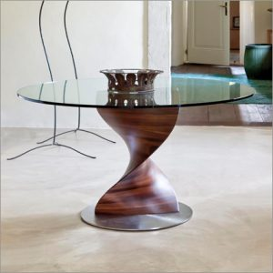 Porada Elika Glass Dining Table, by G. Carollo