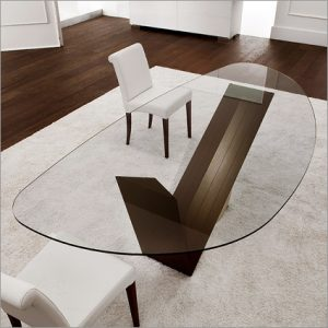 Cattelan Italia Valentino Glass Table, by Emanuele Zenere