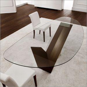 Cattelan Italia Valentino Glass Table, by Emanuele Zenere