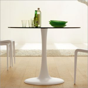 Cattelan Italia Hugo Bistro Glass Table, by Philip Jackson