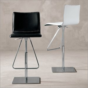 Cattelan Italia Toto Leather Barstool, by Pao Cattelan