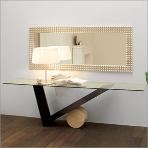 Cattelan Italia Valentino Glass Console Table, by Emanuele Zener