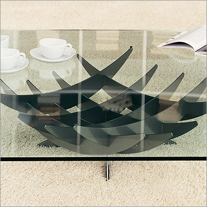 Cattelan Italia Atlas Glass Coffee Table, by Nencini & Brothers