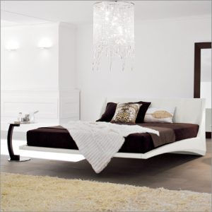 Cattelan Italia Dylan Leather Bed, by Andrea Lucatello