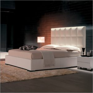 Cattelan Italia William Leather Bed, by Kronos Studio