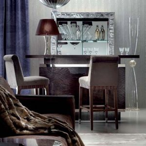 Giorgio Collection Absolute Bar Sideboard Venetian Glass Top