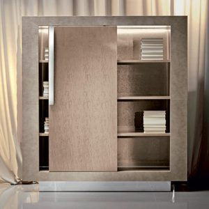 Giorgio Collection Sunrise Bookcase with Sliding Door