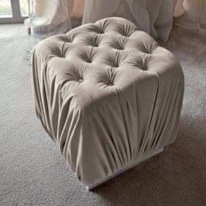 Giorgio Collection Sunrise Ottoman in Fabric or Leather