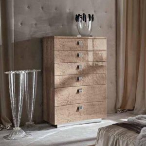 Giorgio Collection Sunrise Tallboy Chest, 6 Drawers
