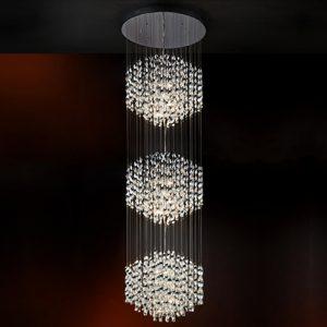 Mobili Domani Spiral Pendant Light, 3 Drops