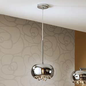 Mobili Domani Lava Small Chrome Pendant Light