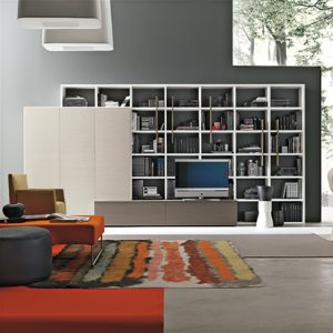 Mobili Domani Atlantic C306 Modular TV Bookcase Unit