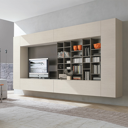 Mobili Domani Atlantic C105 Modular Wall Mounted TV Unit