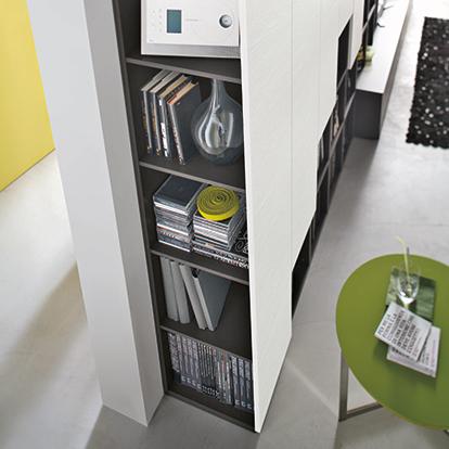mobili domani atlantic C305 modular TV bookcase unit