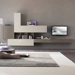 Mobili Domani Atlantic C102 Modular Wall Mounted TV Unit