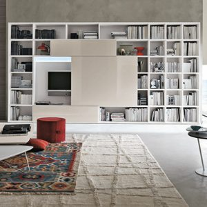 Mobili Domani Atlantic C309 Modular TV Bookcase Unit