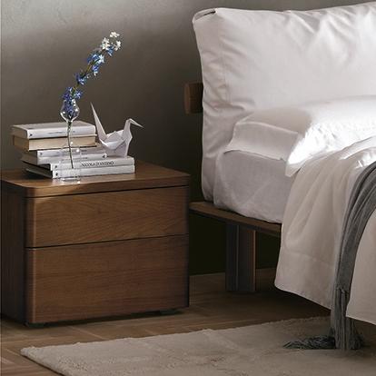 Mobili Domani Dolcevita Bedside Night Table, 2 Drawers